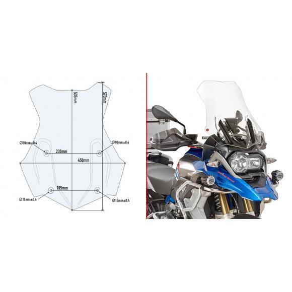 Cúpula transparente para BMW R1250GS de GIVI