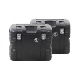 Juego de maletas GOBI 37 Litros Negro de Hepco & Becker