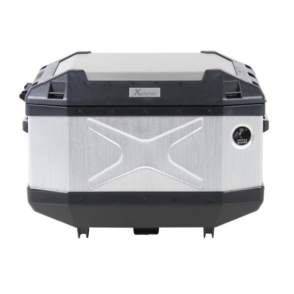 Top Case XPLORER Plata, capacidad 45L de Hepco-Becker.