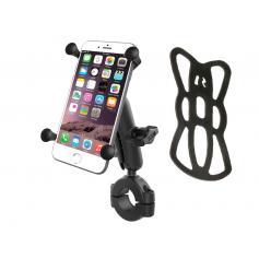 Soporte universal teléfono RAM® X-Grip® con kit de sujección manillar y cuna X-Grip® para smartphone de mayores dimensiones