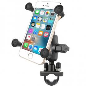 Soporte universal teléfono RAM® X-Grip® con adaptador manillar en forma de U con cuna universal X-Grip® Cell / iPhone