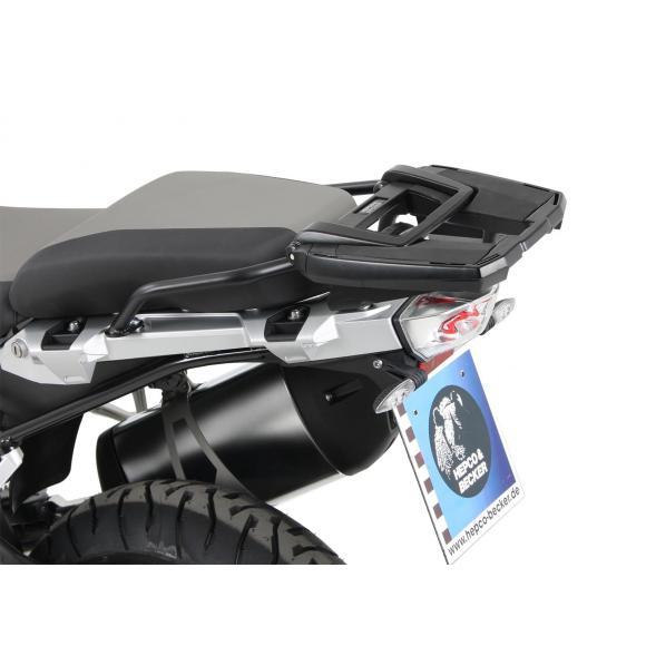 Soporte topcase Easyrack negro para BMW R1250GS Adventure de Hepco&Becker