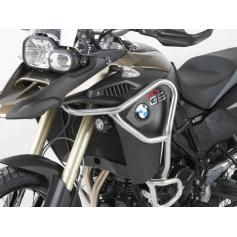 Defensas de Deposito en plata para fijacion en defensas de motor originales para BMW F800GS ADV de HepcoBecker