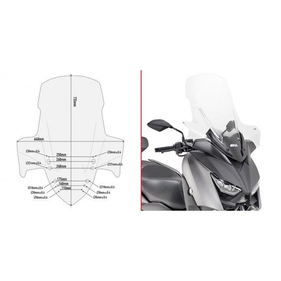 Cupula baja y deportiva para Yamaha X-Max 300 / X-Max 400 / X-Max 125