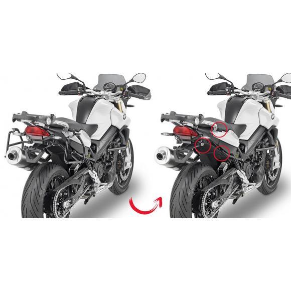 Portamaletas lateral de fijación rápida para maletas MONOKEY® de BMW F800R (2009-2018)