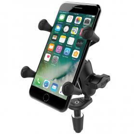 Soporte Universal para smartphone RAM® X-Grip® con kit de sujeccion base en forma de rombo.