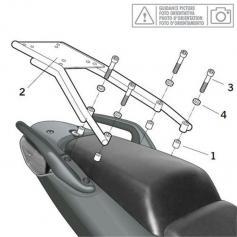 Soporte de maleta SHAD TOP MASTER Y0T51T para YAMAHA T-MAX 500 01-07