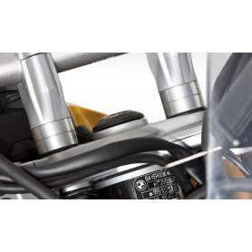 Alzas de manillar en color plata para F 800 GT de 20mm de ERGO