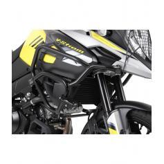 Barras de protección de depósito en color negro para Suzuki V-Strom 1000 ABS desde 2017
