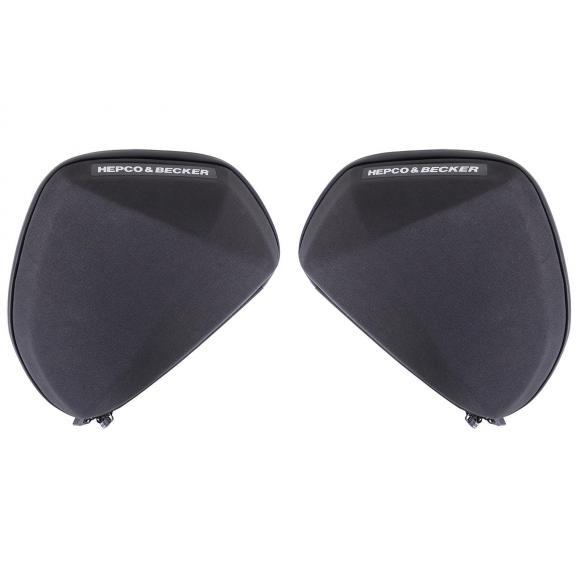Conjunto de bolsas de protección en negro versión universal V1 de Hepco-Becker