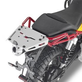 Adaptador posterior específico en aluminio para maleta MONOKEY® para Moto Guzzi V85 TT (2019-) de GIVI