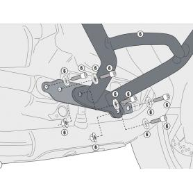 Kit específico para el montaje del defensas motor TN5108 / TN5108OX de GIVI