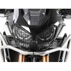 Protector de faro de rejilla negro para HONDA CRF 1100L Africa Twin Adv Sport (2020-) de Hepco&Becker