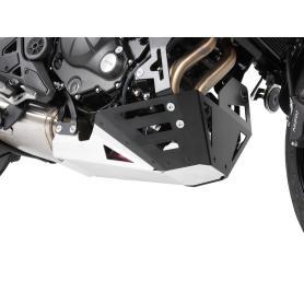 Placa de protección del motor plata/negra para KAWASAKI VERSYS 650 DE 2015 de Hepco&Becker