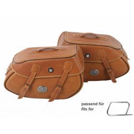 Set de alforjas buffalo sandbrown para tubo portador de alforjas