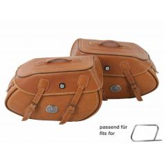 Set de alforjas buffalo sandbrown para tubo portador de alforjas de hepcobecker