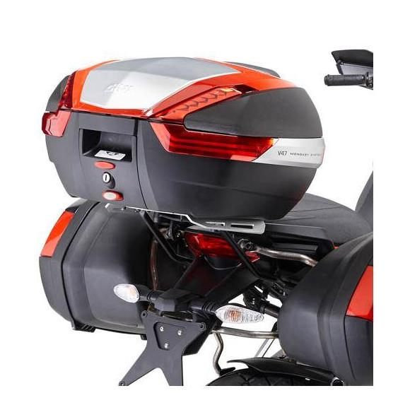 Soporte de maleta en aluminio para Ducati Multistrada 1200 (13-14) de GIVI