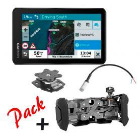 Pack GPS PRO Zumo XT con soporte con cerradura, rotativo y cable de conexión