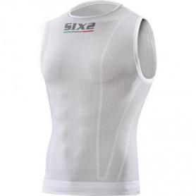 Camiseta Interior sin mangas para niños Carbon Underwear@ SMX de SIXS - Blanco