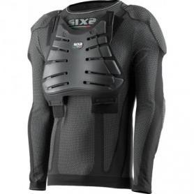 Camiseta protectora de cuello redondo y mangas largas para niños Carbon Underwear con protecciones