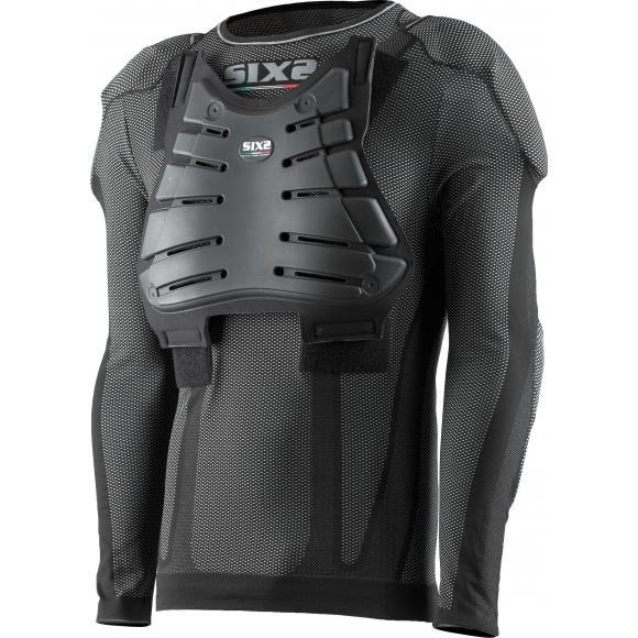 Camiseta protectora de cuello redondo y mangas largas para niños Carbon Underwear