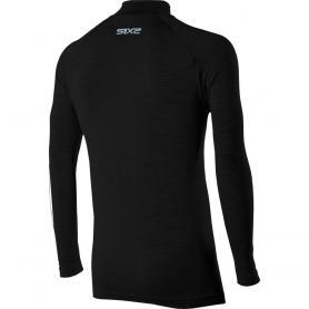 Camiseta de cuello alto y manga larga Carbon Merinos Wool de SIXS