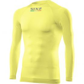 Camiseta Técnica Manga Larga / Cuello Redondo Todo el Año Carbón Underwear® TS2 - Amarillo