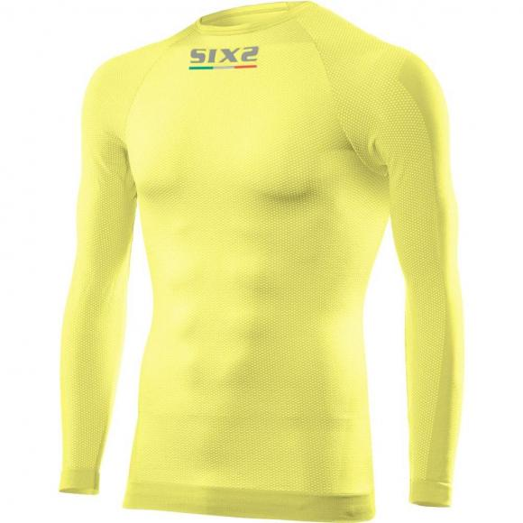 Camiseta Manga Larga / Cuello Redondo Todo el Año Carbón Underwear® TS2 de SIXS