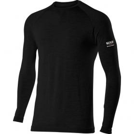 Camiseta de cuello caja y manga larga Carbon Merinos Wool de SIXS