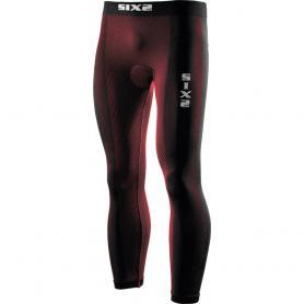 Mallas Largas con almohadilla Carbon Underwear® de SIXS - Rojo oscuro