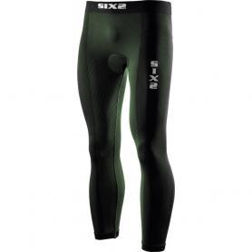Mallas Largas con almohadilla Carbon Underwear® de SIXS - Verde oscuro