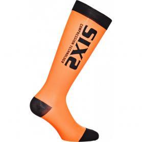 Calcetines ciclismo Compression Recovery Socks de SIXS - Naranja
