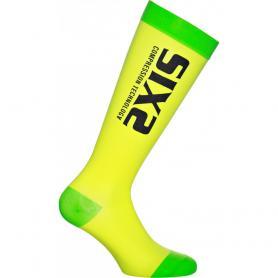 Calcetines ciclismo Compression Recovery Socks de SIXS - Amarillo