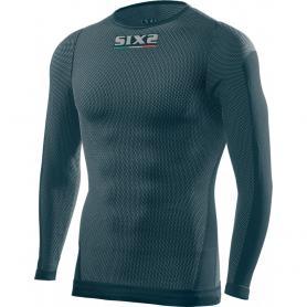 Camiseta Técnica Manga Larga / Cuello Redondo TS2L SuperLight Carbon Underwear® - Petroleo