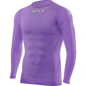 Camiseta Técnica Manga Larga / Cuello Redondo TS2L SuperLight Carbon Underwear® - Lila