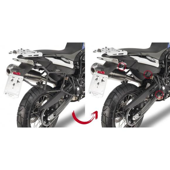 Portamaletas lateral para maletas MONOKEY® para BMW F650GS (08-17) / F800GS (08-17) / F700GS (13-17) de GIVI