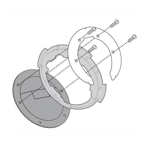 Kit adaptador metálico para el uso de bolsas depósito TANKLOCK. BF22 de GIVI