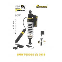 Amortiguador Trasero de Reducción -25mm DDA / Plug & Travel de Touratech Suspension para BMW F850GS / Adventure (2019-)