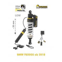 Amortiguador Trasero de Reducción -25mm DDA / Plug & Travel de Touratech Suspension para BMW F850GS / Adventure (2019-)