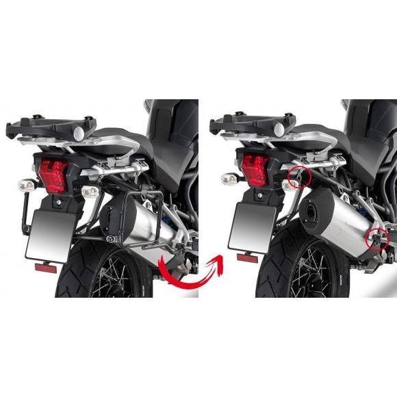 Portamaletas laterales para maletas MONOKEY® para Triumph Explorer 1200 (16-17) de GIVI