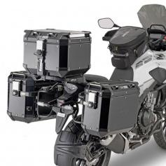 Portamaletas Lateral PL One-Fit para maletas Trekker Outback Monokey® Cam-Side de Givi para Honda CB 500 X (2019)