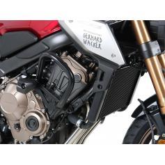 Barra de Protección del Motor con Almohadillas de Protección Negras para Honda CB 650 R (2021-)