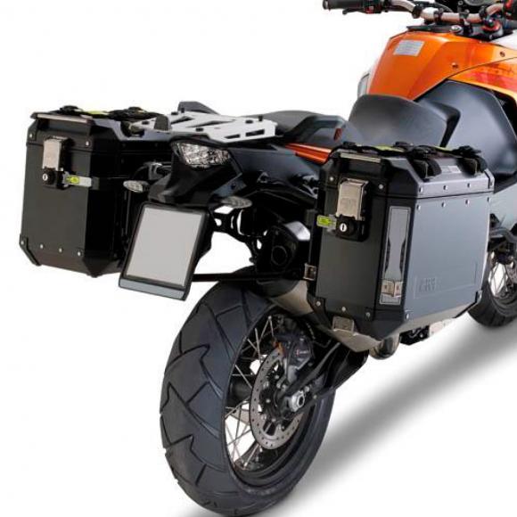 Portamaletas lateral para maletas Trekker Outback MONOKEY® CAM-SIDE para KTM 1190 Adventure / Adventure R (13-16)