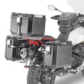 Portamaletas lateral de fijación rápida PL One Fit para maletas Monokey® de Givi para Moto Guzzi V85 TT (2019-)