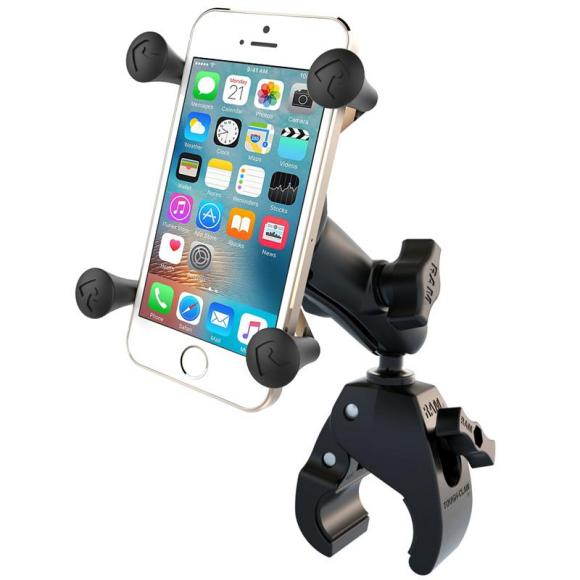 Base RAM Tough-Claw ™ pequeña con brazo doble y base universal X-Grip® Cell / iPhone Cradle