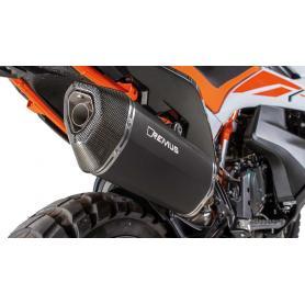 Escape Remus Black Hawk en acero inoxidable para KTM 790 Adventure R (2019-2020)