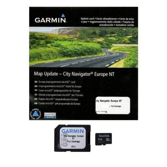 Mapas de Europa en tarjeta microSD™/SD™ para GPS Garmin