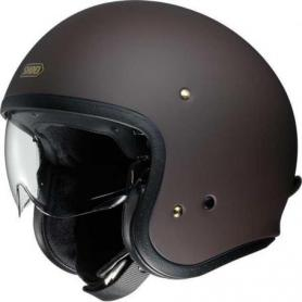 Casco Jet J.O en marrón mate de Shoei