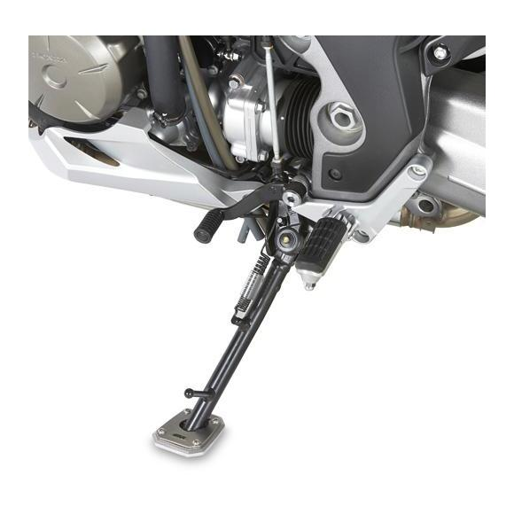 Ampliación de caballete lateral en aluminio y acero inoxidable para BMW R1200GS (04-12) de GIVI