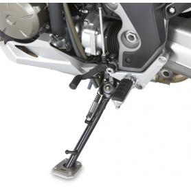 Ampliación de caballete lateral en aluminio y acero inoxidable para Aprilia Caponord 1200 (13-17) de GIVI